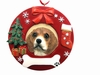 Item # 407065 - Beagle Circle-Shaped Christmas Ornament