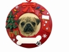 Item # 407066 - Pug Circle-Shaped Ornament