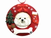 Item # 407067 - Bichon Frise Circle-Shaped Christmas Ornament