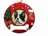Item # 407069 - Boston Terrier Circle-Shaped Christmas Ornament