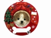 Item # 407070 - Tan/White Shih Tzu Circle-Shaped Christmas Ornament