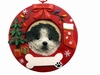 Item # 407071 - Black/White Shih Tzu Circle-Shaped Christmas Ornament