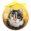 Item # 407146 - Shatterproof Calico Cat Ball Christmas Ornament