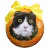 Item # 407147 - Shatterproof Black/White Cat Ball Christmas Ornament