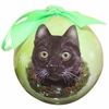 Item # 407148 - Shatterproof Black Cat Ball Christmas Ornament