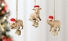 Item # 408706 - Pig In Santa Hat With Bell Ornament