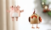 Item # 408707 - Layered Pig/Rooster Ornament