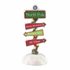 Item # 410151 - North Pole Sign Possible Dreams Clothtique Collectible