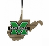 Item # 416007 - Marshall University Thundering Herd Map Ornament
