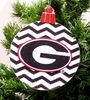 Item # 416025 - University of Georgia Bulldogs Chevron Logo Ornament