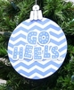 Item # 416122 - University of North Carolina Tar Heels Chevron Saying Ornament