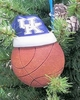 Item # 416163 - University of Kentucky Wildcats Santa Hat With Basketball Christmas Ornament