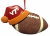 Item # 416165 - Virginia Tech Hokies Santa Hat With Football Christmas Ornament