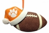 Item # 416167 - Clemson University Tigers Santa Hat With Football Christmas Ornament