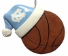 Item # 416170 - University of North Carolina Tar Heels Santa Hat With Basketball Christmas Ornament