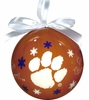 Item # 416263 - Clemson University Tigers Snowflake Ball Christmas Ornament