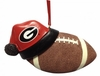 Item # 416278 - University of Georgia Bulldogs Santa Hat With Football Ornament