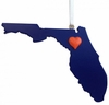 Item # 416283 - Gainesville Heart Christmas Ornament