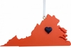 Item # 416294 - Charlottesville Heart Christmas Ornament