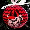 Item # 416303 - University of Georgia Bulldogs Chevron Christmas Ornament