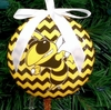 Item # 416304 - Georgia Tech Yellow Jackets Chevron Christmas Ornament