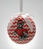 Item # 416305 - North Carolina State University Wolfpack Chevron Christmas Ornament