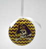 Item # 416306 - East Carolina University Pirates Chevron Christmas Ornament