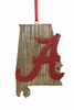 Item # 416336 - University of Alabama Crimson Tide Map Ornament
