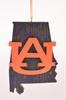 Item # 416337 - Auburn University Tigers Map Ornament