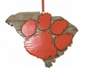 Item # 416338 - Clemson University Tigers Map Ornament