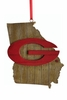 Item # 416340 - University of Georgia Bulldogs Map Ornament