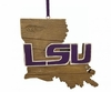 Item # 416342 - Louisiana State University Tigers Map Ornament