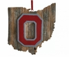 Item # 416345 - Ohio State University Buckeyes Map Ornament