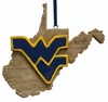 Item # 416350 - West Virginia University Mountaineers Map Ornament