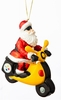 Item # 420033 - Pittsburgh Steelers Santa Scooter Christmas Ornament