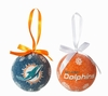 Item # 420130 - Miami Dolphins Light Up LED Ball Christmas Ornament