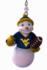 Item # 420276 - West Virginia University Mountaineers Snowman Ornament