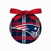 Item # 420324 - New England Patriots Plaid Light Up LED Ball Christmas Ornament