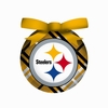 Item # 420334 - Pittsburgh Steelers Plaid Light Up LED Ball Christmas Ornament