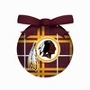 Item # 420336 - Washington Redskins Plaid Light Up LED Ball Christmas Ornament