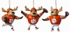 Item # 420343 - Clemson University Tigers Reindeer Player Christmas Ornament