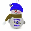 "Item # 420467 - 6"" Plush Baltimore Ravens Snowman Ornament"