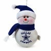 "Item # 420473 - 6"" Plush Dallas Cowboys Snowman Christmas Ornament"