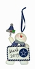 Item # 420648 - Dallas Cowboys Personalizable Snowman Christmas Ornament