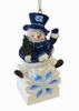 Item # 420656 - University of North Carolina Tar Heels LED Snowman Ornament