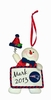 Item # 420718 - New England Patriots Personalizable Snowman Christmas Ornament