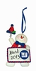 Item # 420742 - New York Giants Personalizable Snowman Christmas Ornament