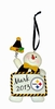 Item # 420750 - Pittsburgh Steelers Personalizable Snowman Christmas Ornament