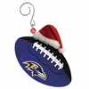 Item # 420850 - Baltimore Ravens Team Ball With Santa Hat Ornament