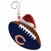 Item # 420852 - Chicago Bears Team Ball With Santa Hat Christmas Ornament